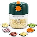 KONKY Mini Picadora de eléctrica Recargable, 250ML Picador de Ajo Procesador de Alimentos con 3 Cuchillas,Triturador de Alimentos para Alimentos para Bebés, Carne, Frutas, Nueces y Ingredientes