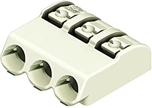 WAGO 2060-403/998-404 Wire-To-Board Terminal Block, Strip, 4 mm, 3 Positions, 24 AWG, 18 AWG, 0.75 mm², Push In, Price for Each (Supplied on Cut Tape)