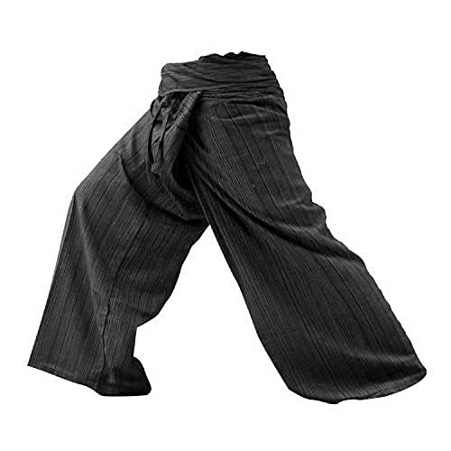 kittiya Thai Fisherman Pants Yoga Trousers FREE SIZE Plus Size Cotton Drill...
