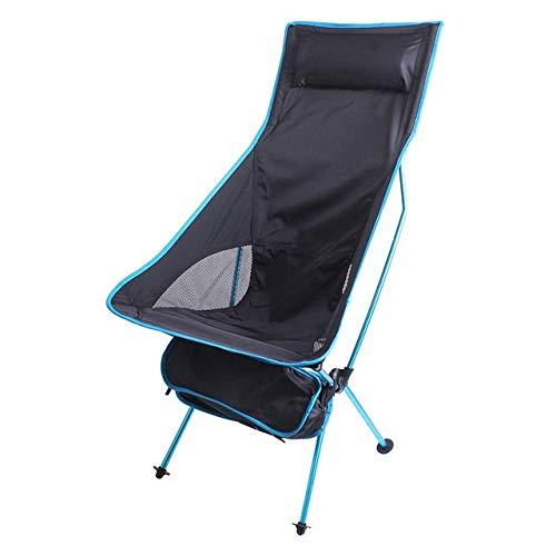 LIUYB Pesca Silla Plegable portátil de Camping al Aire Libre Barbacoa Viajes Presidente del Ministerio del Interior Asiento de la Silla de la Luna (Color : Azul)