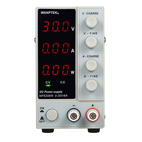 KKmoon 0-30V 0-6A Fuente de alimentación de CC de conmutación 3 dígitos Pantalla LED Alta precisión fuente de alimentación ajustable CA 115V / 230V 50 / 60Hz