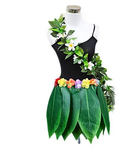 Fortuning's JDS Hawaii-Blatt-Rock Garland Set Tanzen Kostüm Partyrequisiten Gefälligkeiten (2Pcs)