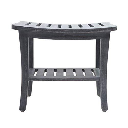 Redmon since 1883 Teak Shower Bench, Weathered Gray