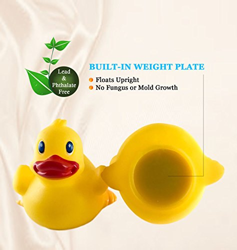 """DUCKY CITY 3"""" Coffee Lover Rubber Duck [Sealed Hole, No Mildew, Floats Upright] - Imaginative Baby Toddler Safe Bathtub…"""