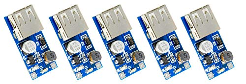 MissBirdler 5 stuks Step-Up Boost-Converter 0.9V-5V tot 5V PFM max 600mA voor Arduino DIY Raspberry Pi