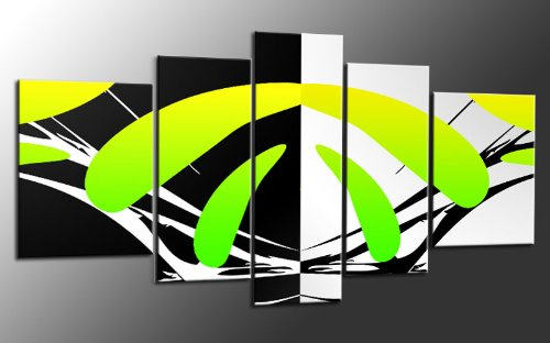 XXL más Juego de 5 piezas sobre lienzo abstracto Número de ...