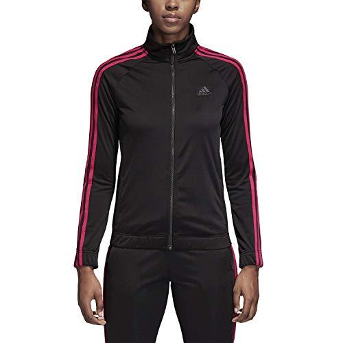 adidas Damen Designed-2-Move Trainingsjacke, Damen, Sweatjacke, Athletics Designed-2-move Track Jacket, Schwarz/Real Magenta, XX-Small