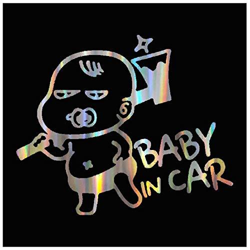 Farbige Laser Baby Baby im Auto 3D Aufkleber Baby im Auto Auto Aufkleber Vinyl Aufkleber Home Baby Schutz SS183-Farblaser