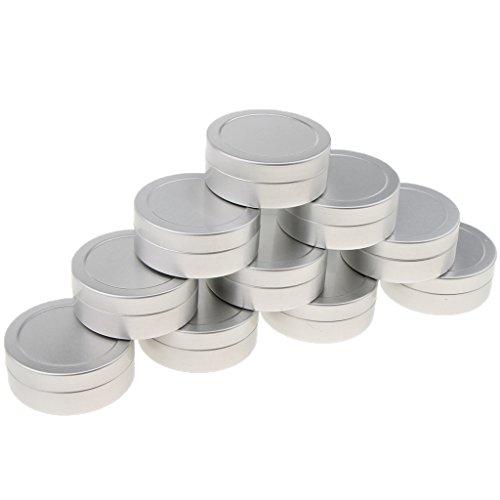 Latas Cosméticas, 10pcs 25ml Bálsamo Labial De Aluminio Botes De La Lata Cosmética Crema Tarro Botella Contenedor