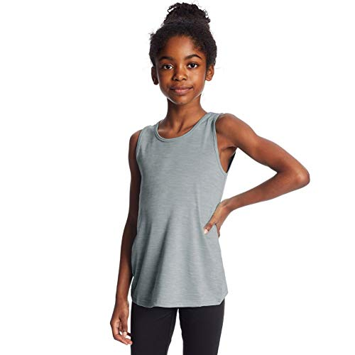 C9 Champion Girls' Performance Tank, Shale Tile Gray Heather, L