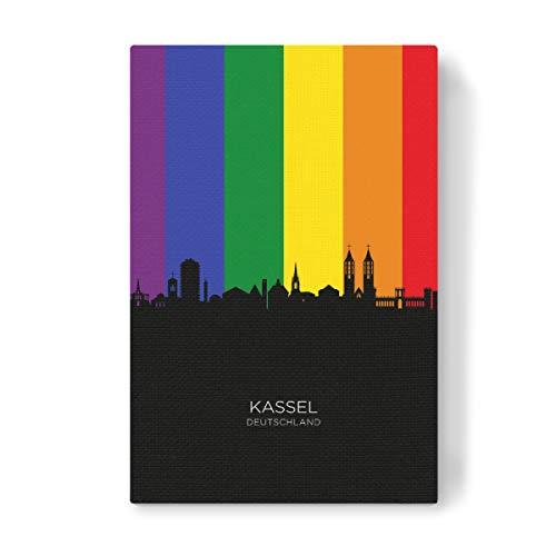 artboxONE Leinwand 60x40 cm Städte Kassel Germany Skyline Pride von Michael Tompsett