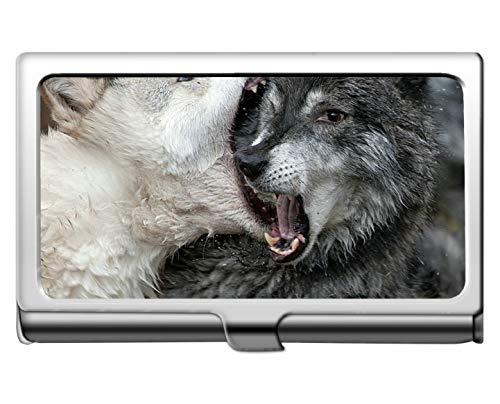 Professionelle Visitenkartenhalter, Tier Wolf großen Mund Schutz Kredit Visitenkartenhalter Fall Aufbewahrungsbox