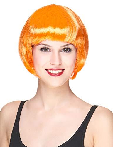 DEGUISE TOI - Perruque Courte Orange Femme - Taille Unique