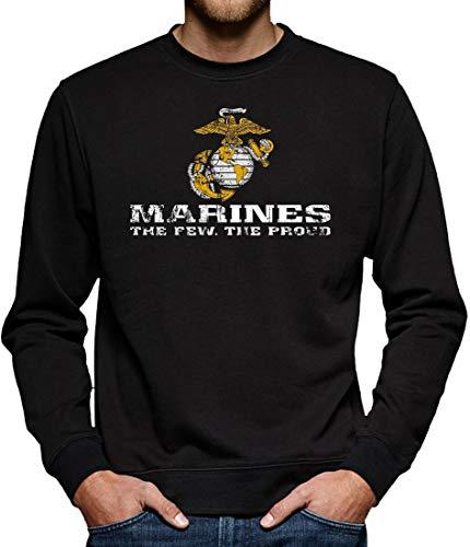 US Marine Corps USMC Sweatshirt Pullover Herren XXL Schwarz