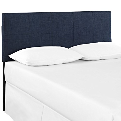Modway Oliver Full Upholstered Fabric Headboard in Navy