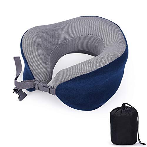 MSNLY Almohada de Espuma viscoelástica en Forma de U Puede almacenar Espuma viscoelástica Almohada en Forma de U Almohada de Viaje Almohada para el Cuello en Forma de U