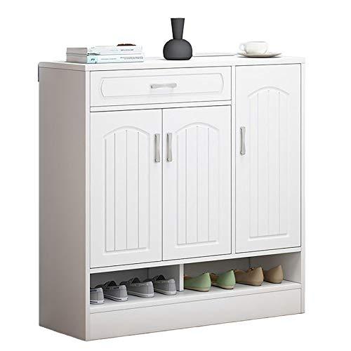 QINJIE Gabinete de Entrada de Gran Capacidad para el hogar, gabinete de Zapatos Simple Hueco, Estante de Zapatos de Almacenamiento Escalera,A