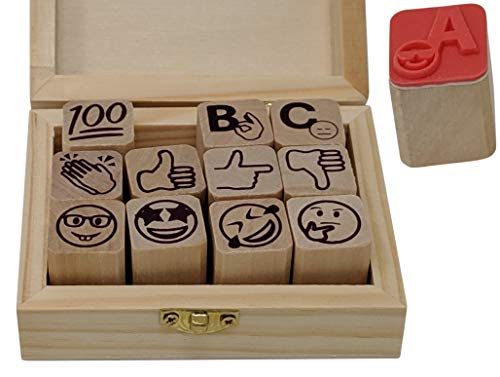 Stampmojis Teacher Stamps for Grading - Fun Teacher Supplies for Classroom, Cute Teacher Stamp Set, Teacher Gifts