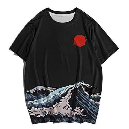 SSBZYES Camisetas De Cuello Redondo para Hombre Camisetas Estampadas para Hombre Camisetas De Manga Corta con Estampado Digital Camisetas Estampadas Camisetas De Moda De Verano para Hombre