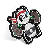 TRAINLIKEFIGHT - Parche Velcro Posterior (Macho/Hook) para Colocar en Chalecos Lastrados, Mochilas, Gorras, o Cualquier Superficie con Velcro Hembra/Loop (BACKSQUAT Panda)