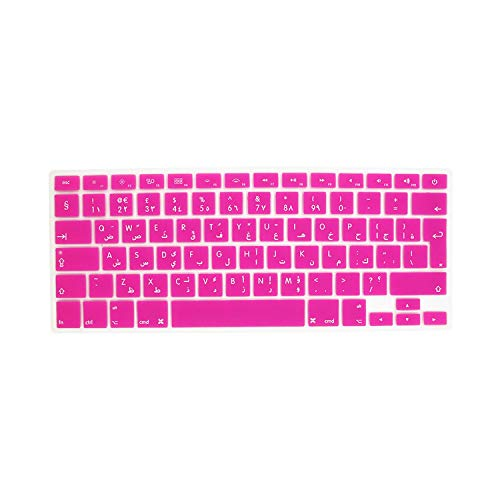Keyboard Cover Sticker Silicone Arab EU Arabic Language Letter Euro Enter for MacBook Air 13 Pro 13 15 17 Retina Protector-Rose-
