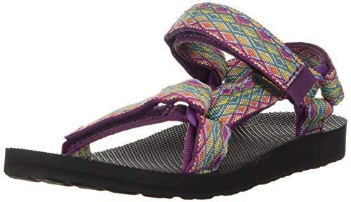 Teva Women's W Original Universal Sandal, Miramar Fade Dark Purple/Multi, 7 M US