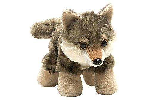 Wild Republic Hug'ems Plush, Wolf Cuddly Soft Toy, Kids Gifts, 18 cm Peluche a Forma di Lupo, per Bambini, Colore, 16244