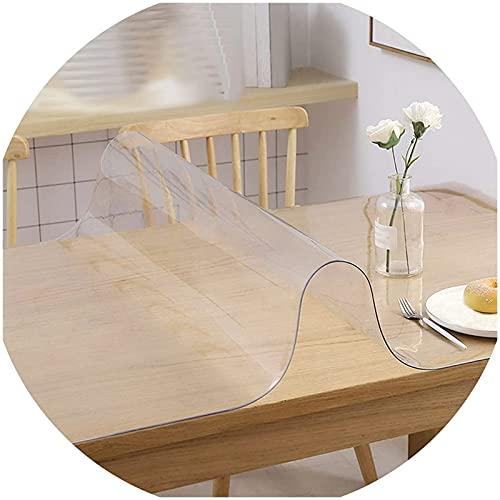 Tovaglia rettangolare trasparente,Tovaglia in PVC Trasparente,impermeabile resistente al calore resistente all'olio,facile da pulire,per cucina tavolo e scrivania,protezione da tavolo 1mm (size:30x12
