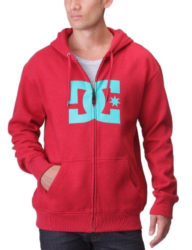 DC Shoes Herren Fleece Sweatshirt Star ZH Hooded Full Zip, deepred/columbi, M, D053260087-DRCD