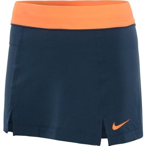 Nike Damen Tennisrock Slam Skirt, Squadron Blue/Bright Citrus, XS