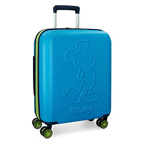 Maleta de cabina Mickey Colored rígida 55cm azul