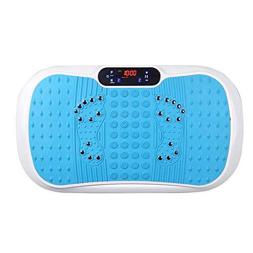 YLKCU Plataformas vibratorias Vibration Power Plates, Trainer Fitness Vibrating Machine, Plataforma oscilante, Masajeador con agitación de Cuerpo Entero, Control Remoto, Música Bluetooth, Azul