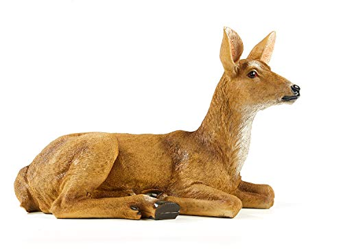 TAOBIAN Buck Female Deer Resin Statue-Animal Figurines Garden Sculpture Accessories for Indoor Outdoor Decoration Rustic Lodge or Art Gifts for Birthday Anniversary Yard Lawn Decor