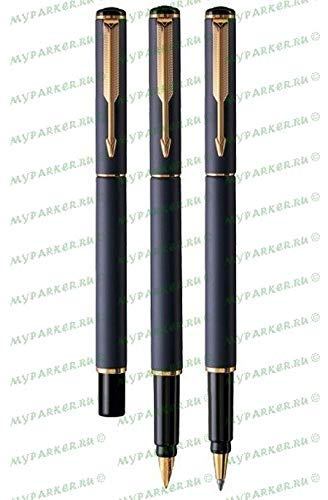Parker Rialto Matte Navy Gold Trim Fountain Pen Medium Nib