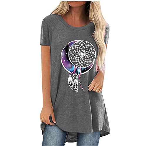 N\P Camiseta de mujer de verano casual camiseta de verano