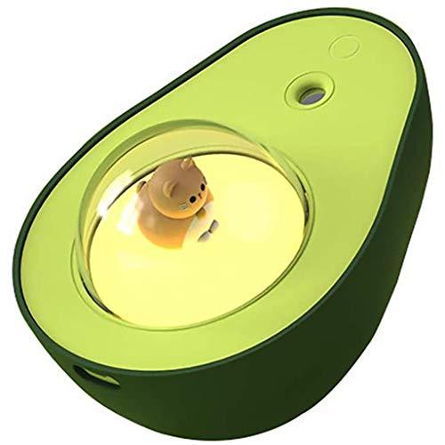 ZOUD Humidificador de aguacate con luz nocturna USB, bola de gato, luz nocturna, humidificadores, decoración del hogar, para niños, regalo de 210 ml