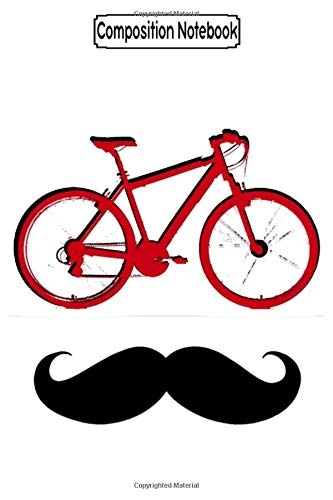 Composition Notebook: Red Bike And Moustache Biker Motorcycles Notebook
