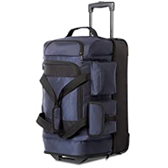Made from 840D clothing that is lightweight but durable and offers resistance to punctures, tears, and abrasions. Two main compartments of the luggage, while maximizing the use of space, the carry-on baggage can be placed in different categories whic...