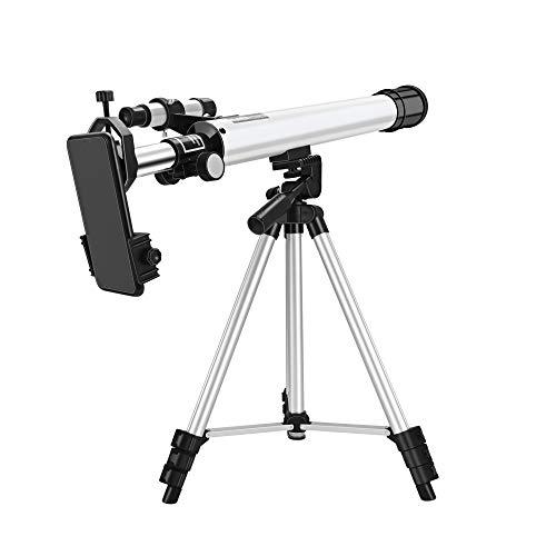 S SMAUTOP Telescopio per astronomia, telescopio da viaggio astronomico professionale da 24x a 300x regolabile a con treppiede/mirino regolabile e supporto per telefono, adatto a bambini e adulti