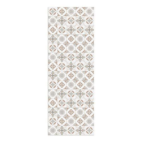 DON LETRA Alfombra Vinílica Baldosas, 140 x 50 cm, Color Salmón, Vinilo PVC Estampado, Grosor 2.2 mm, ALV-087