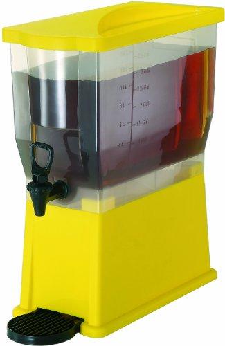 Saftdispenser PP gelb 14 ltr. mit Zapfhahn und Abtropfschale