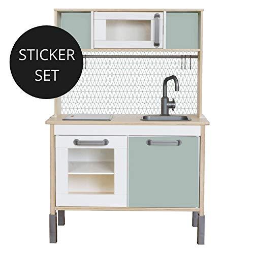 Limmaland Sticker für IKEA DUKTIG (Salbei) - Kinderküche Nicht inklusive