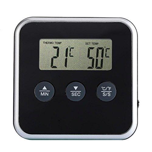 ADAGG Hawkoch Termómetro Higrómetro Digital Monitor Temperatura y Humedad, Temporizador Digital Profesional Eddingtons Termómetro de Carne Horno de Sonda Remota