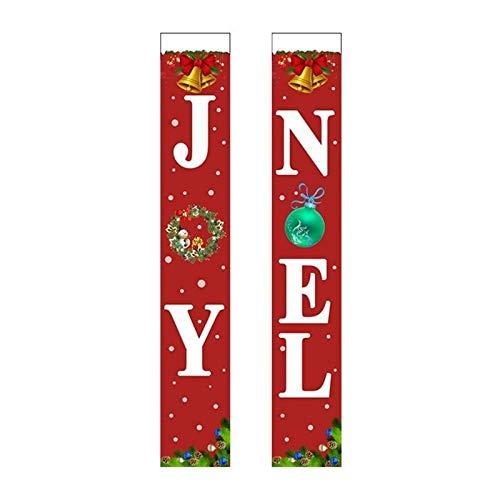 Feliz Navidad Feliz Navidad Decoración Banderas de Año Nuevo for interior-exterior decoraciones de Navidad del signo positivo de rojo brillante de Navidad decoraciones for colgar en el pórtico Porche