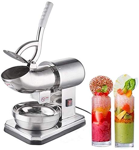 Ice blender Electric Snow Cone Shaved Icee Maker Machine 200W Stainless Steel Ice Crusher Commercial Machine Ice High-efficiency Crusher for Family Restaurants Bars Cafeterias best gift