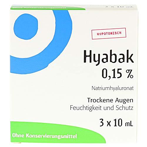 Hyabak Augentropfen, 3X10 ml