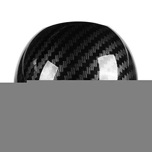 Cuque Round Ball Type Gear Shift Knob Head Cover Trim Sticker Protector Carbon Fiber Style Black for A3 8 V 2014 2015 2016 2017 2018 S3 2014 2015 2016 2017
