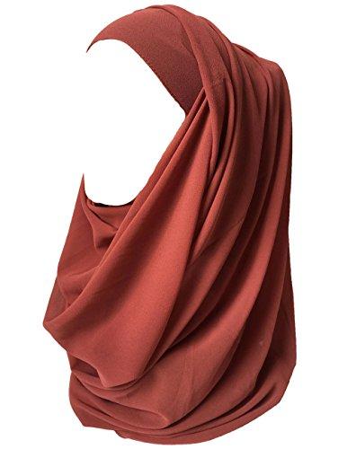 Lina & Lily Hijab para Mujer Musulmana Chiffon Bufanda Turbante Islámico