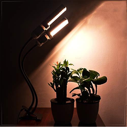 50W planta que crece Lámparas, E27 120Leds luces de crecimiento regulable con el temporizador lámpara del clip para las plantas de semillero Flores Cultivo,Naranja