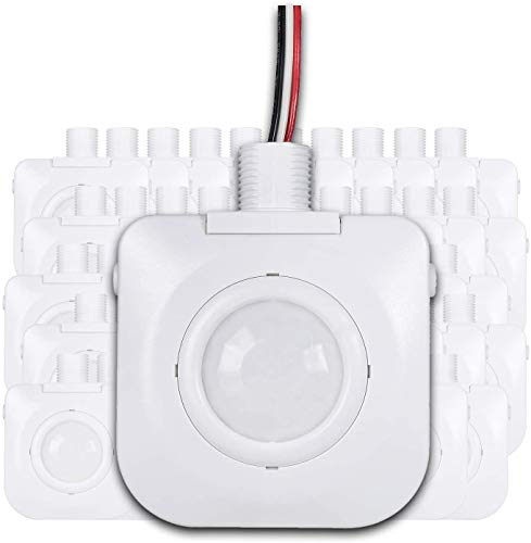 Ceiling Occupancy Motion Sensor - Passive Infrared Technology - High Bay Fixture Mount 360 Degree, Hard-Wired, 120-277VAC, Commercial/Industrial Grade, White